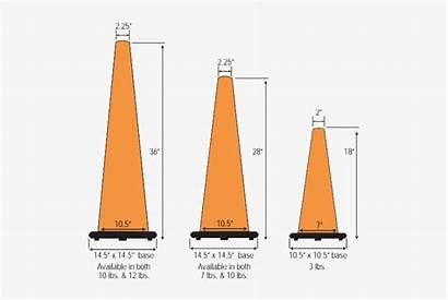 Cone Traffic Standard Sizes Specifications Seekpng