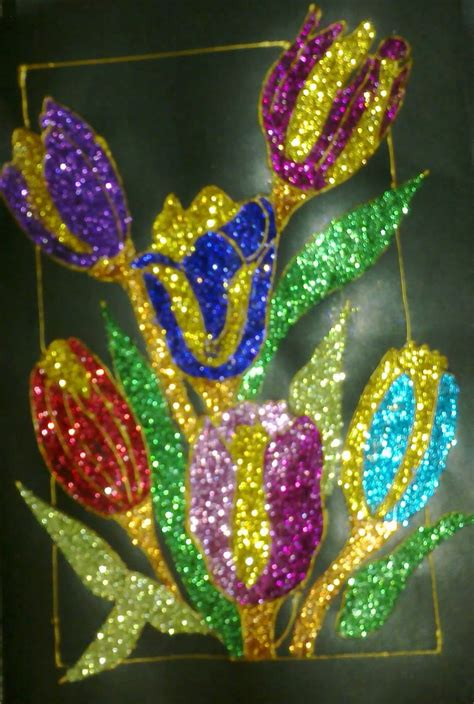 Glitter paintings