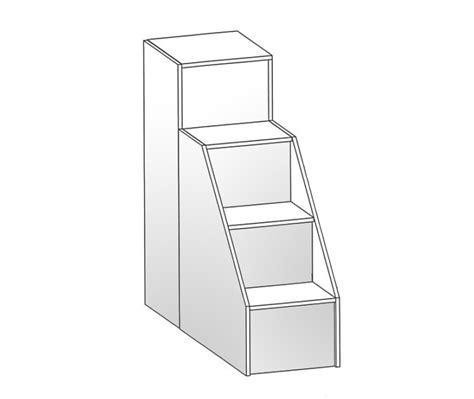 scala per letto a soppalco scaletta 4 gradini per letto soppalco