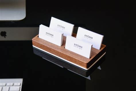 Wood Two-row Business Card Holder For Front Desk / Wood Kfc Business Plan Example Forbes Proposal Paper For Distributorship In Ethiopia Examples Hindi Template Ppt Arabic