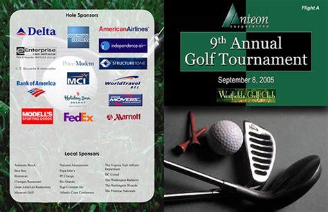 Dtp  Program For Golf Tournament On Behance