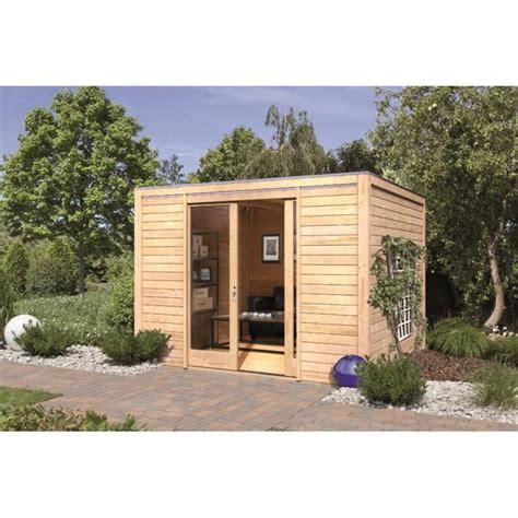 abri de jardin bois 9 85 m2 28 mm forme carr 233 cubus front achat vente abri jardin chalet