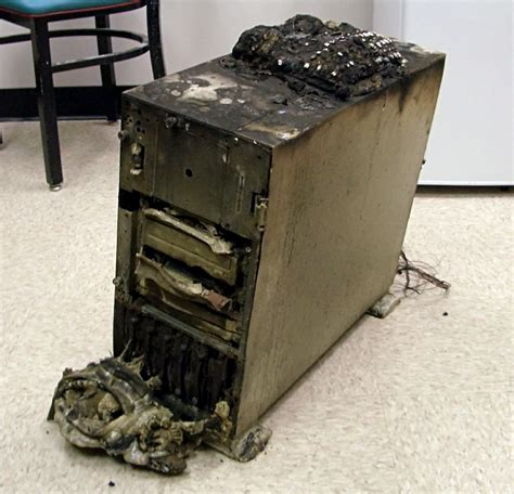 [SOLVED] Boss's Computer caught fire!!!!!!! - Data Storage ...