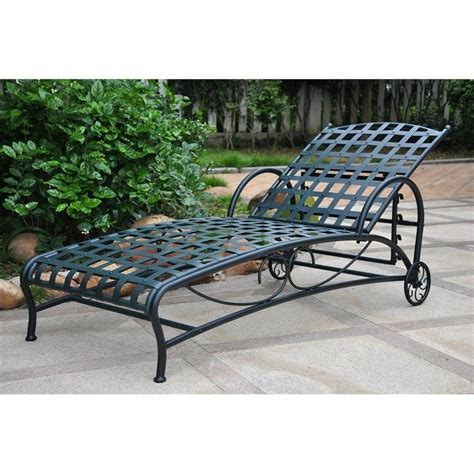 iron chaise lounge in verti gris 3571 sgl vg