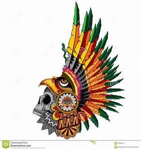 Aztec Eagle Warrior Sull Stock Vector - Image: 62096731