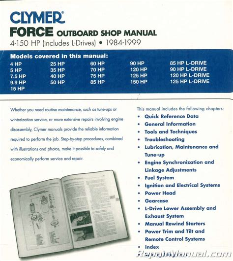 small engine repair manuals free download 1984 mercury lynx seat position control 1984 1999 force 4 150 hp outboard boat engine repair manual