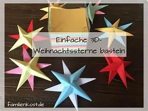 Weihnachtsbasteln Mit Kindern Vorlagen : 3d sterne basteln mit kindern weihnachten ~ Watch28wear.com Haus und Dekorationen