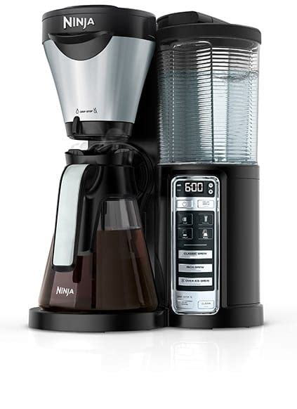 Even better, it folds into the side of the machine, which is handy when you're brewing a regular pot of coffee. Coffee Maker   Ninja Coffee Bar® Hot and Iced Coffee Machine for Home