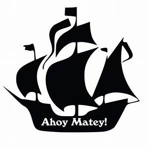 Pirate Ship Silhouette Vinyl Decal - ClipArt Best ...