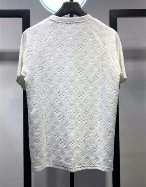 louis vuitton monogram logo white  shirt  billionairemart