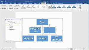 How To Create An Organization Chart In Word 2016