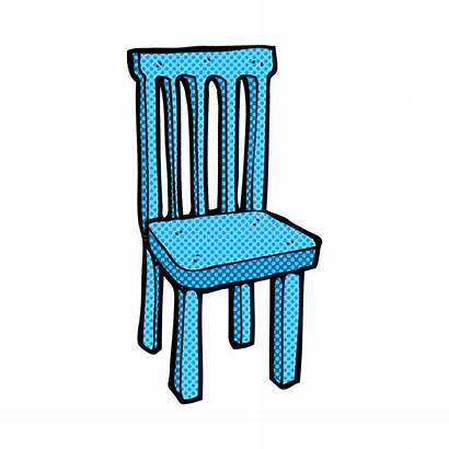 Chair Cartoon Comic Wooden Illustration