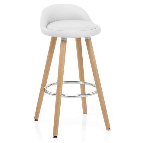 chaise de bar blanc tabouret haut de cuisine tabouret design elvis transparent finitions tabouret de bar et de