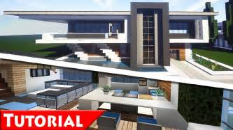 minecraft modern house interior design tutorial how to make part 2 1 8