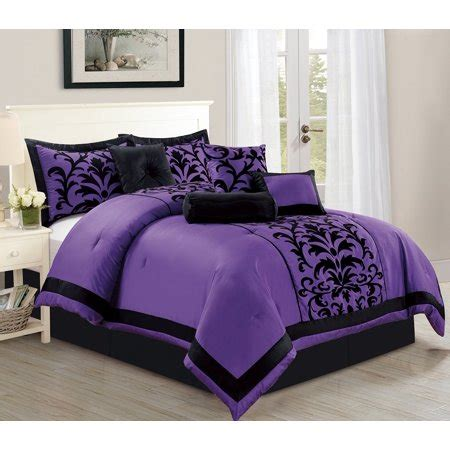 purple queen comforter sets sale empire home 8 comforter set sized bed in a bag size purple black new