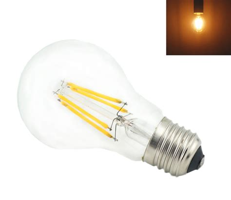4 led light bulbs 4 watts a19 a60 led filament led bulbs 120vac e26 e27