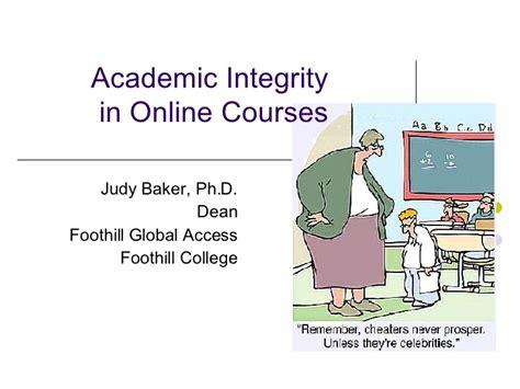 academic integrity   courses