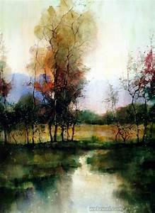 watercolor painting landscape 4
