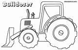 Bulldozer Coloring Pages Drawing Backhoe Drawings Vehicle Colorings Getdrawings sketch template