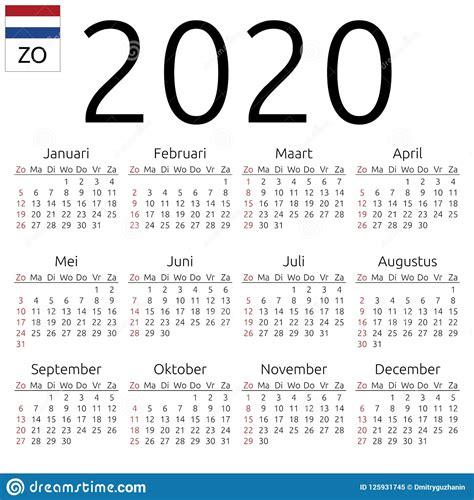 calendar dutch sunday stock vector illustration design