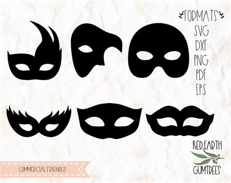mardi gras mask plain masks carnival mask  svg eps  dxf png formats cricut