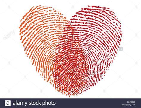 red fingerprint heart vector design element  wedding