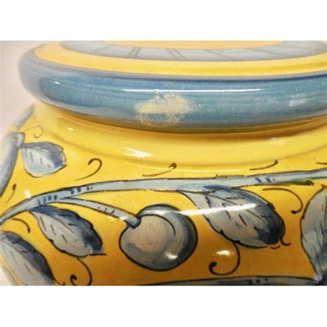 bonechi imports limoni toscani blue lamp base  fruit