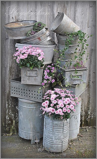Galvanized Containers For The Garden I Love The One In