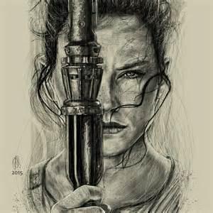 Rey Star Wars Character Drawing