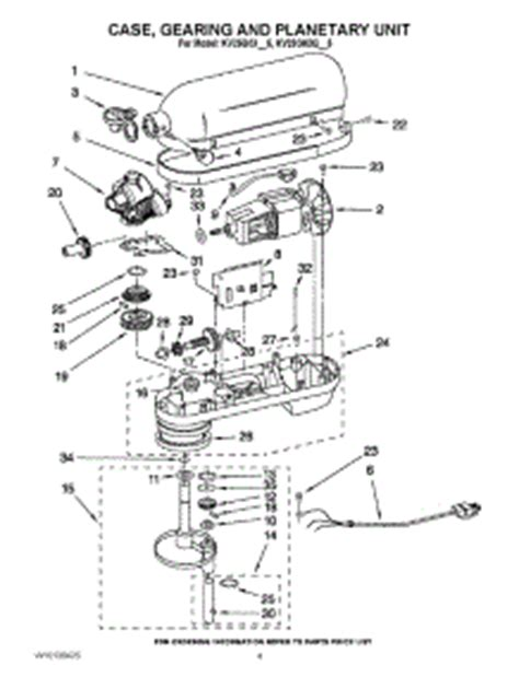 Parts For Kitchenaid Kvgxqbw Mixer