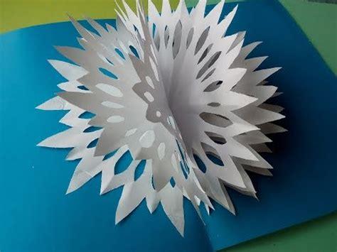 weihnachtskarten zum selber machen 3d weihnachtskarten mit schneeflocken aus papier selber machen pop up karten diy