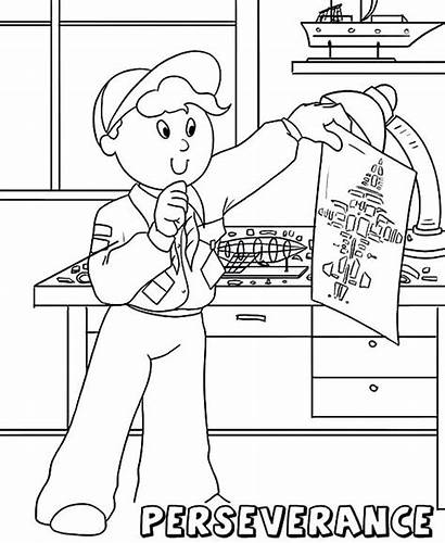 Coloring Pages Perseverance Value Scouts Core Boy