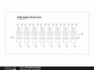 8 bit adder subtractor circuitlab With 8 bit adder circuit
