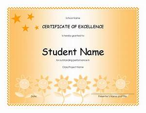 microsoft publisher award certificate templates - student excellence award elementary free certificate