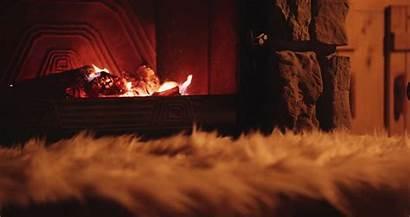 Winter Cozy Fireplace Warm Fire Background Cabin