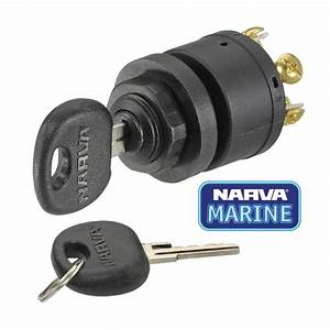 Narva 3 Position Ignition Switch Car Marine Boat Mower 4wd