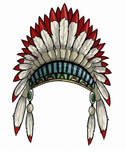 Headdress Native Indian American Clipart Silhouette Clip