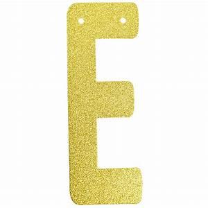 glitter letter banner garland 6inch gold letter e With gold letter garland