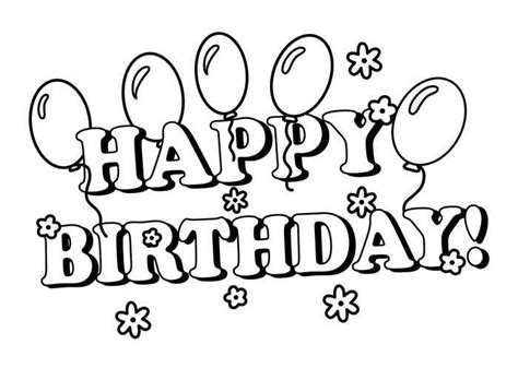 happy birthday coloring pages happy birthday coloring pages happy