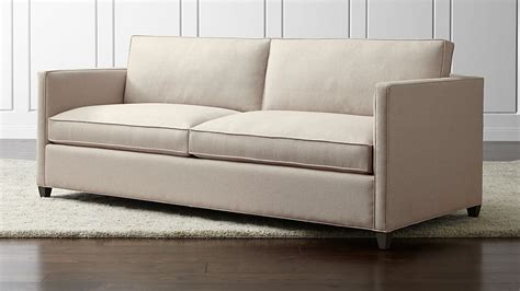 crate and barrel settee dryden sleeper sofa flax crate and barrel