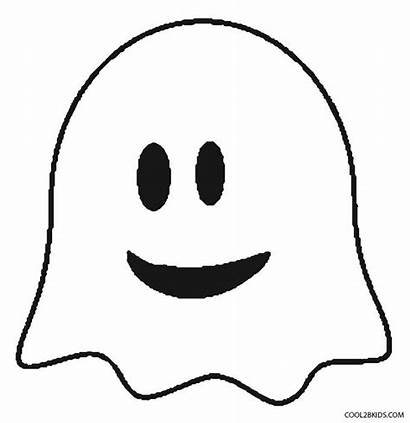 Coloring Pages Ghost Face Printable Ghosts Spooky