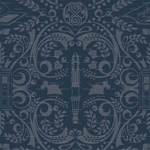 Tardis pattern wallpaper | Wallpaper Wide HD