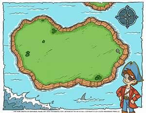 Blank Pirate Treasure Map - Tim's Printables