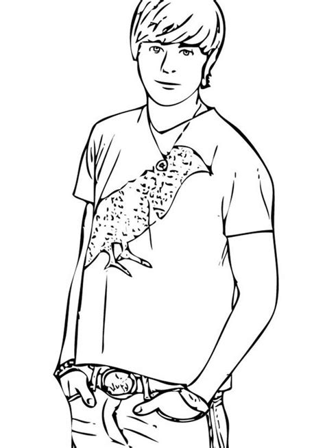 popular male student  high school musical coloring page