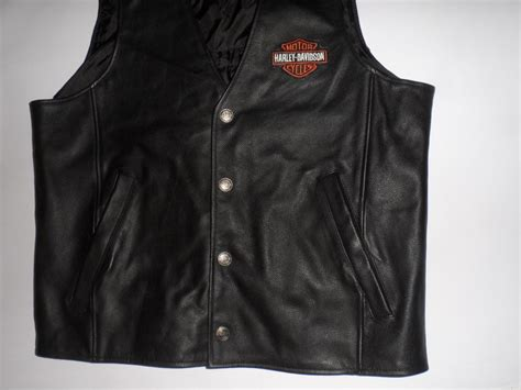 Mens Harley Davidson Leather Vest