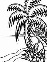 Coloring Hawaii Pages Beach Hawaiian Drawing Hula Flower Flowers Lei State Clipartmag Getdrawings Getcolorings sketch template