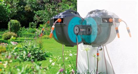 wall mounted hose box 35 roll up automatic garden hose reel