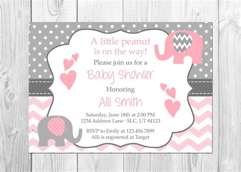 baby shower invitations pink and grey pink and grey elephant baby shower invitation it s a