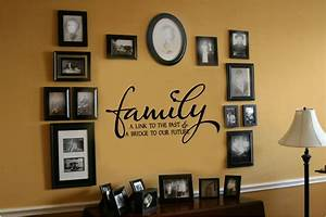family link to past bridge to future vinyl wall decal With family lettering wall art