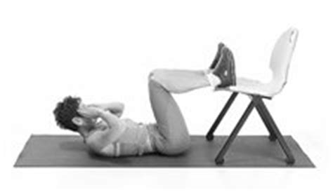 abdos sur une chaise fiches pratiques le travail des abdos le crunch sur chaise